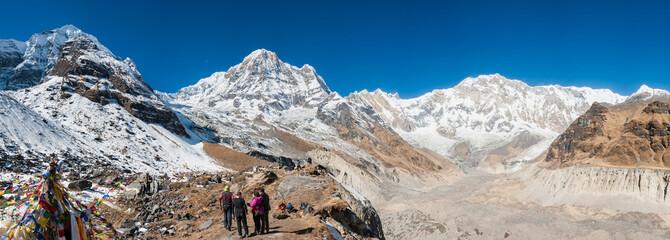 Panorama of Annapurna range from ABC (Annapurna Base Camp)