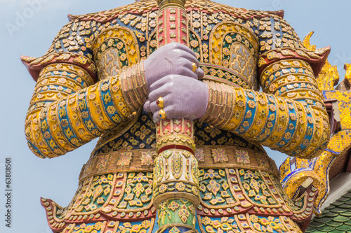 Giant Keeper in Bangkok Grand Palace, Wat Phra Kaeo Thailand