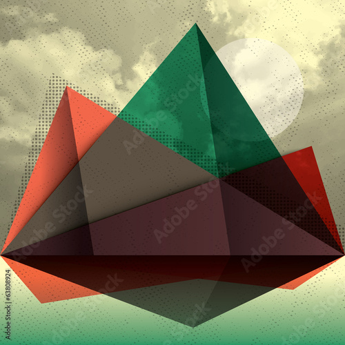 Vector Abstract Mountain Shape triangle Background