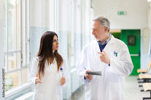 Doctors talking in an hospital