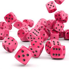 Falling dice - Gamble concept