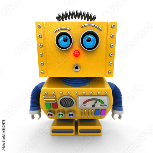 Curious toy robot