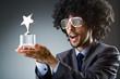 Man getting his star award