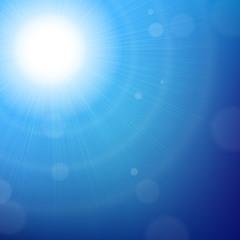 Blue Sun Background