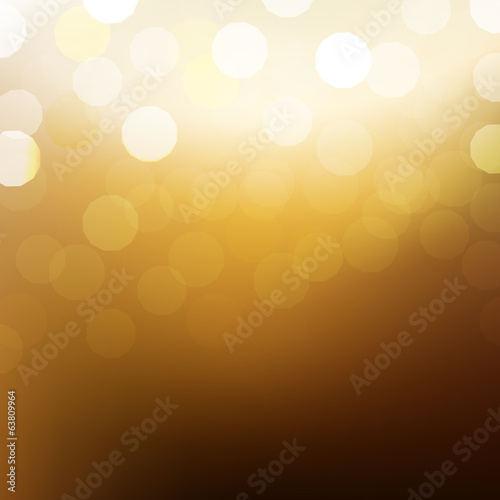 Golden Background With Bokeh And Blur