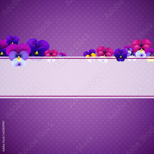 Violet Background With Flowers
