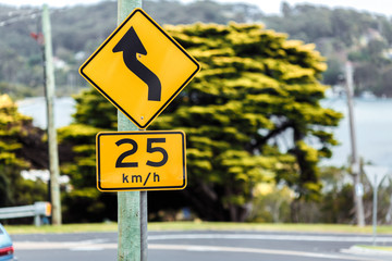 Road sign of the maximum speed
