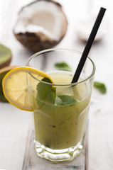 Chia, coconut and kiwi drink