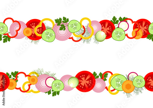 Seamless pattern with vegetables