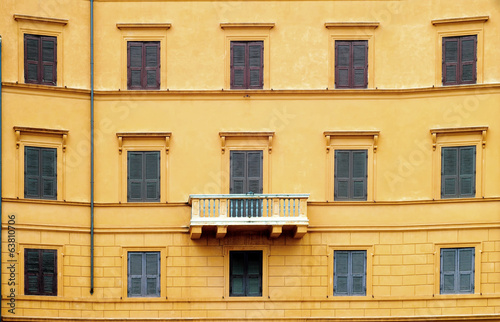 Traditional windows and balcony in Italy