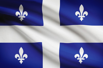 Series of ruffled flags. Quebec.