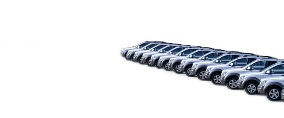 Fahrzeuge in einer Reihe