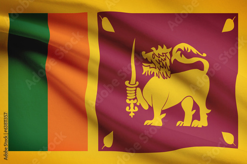Series of flags. Democratic Socialist Republic of Sri Lanka.