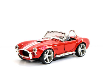 Miniature of retro red car (die cast)