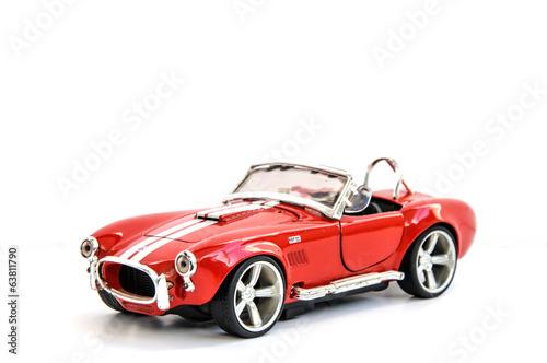 Miniature of retro red car (die cast)