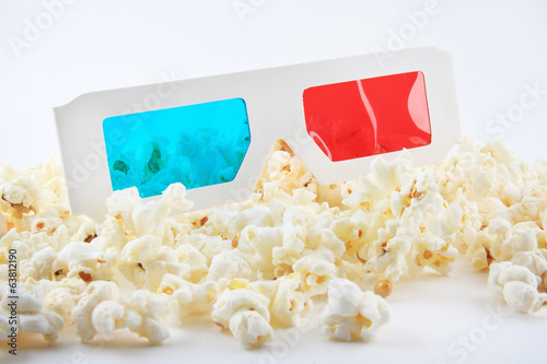 Vintage 3D Glasses with Vegan Popcorn