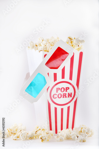 3D Glasses with Movie Theater Popcorn