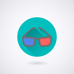 3d Glasses Icon. Vector