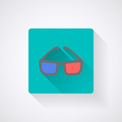 3dcGlasses Icon. Vector