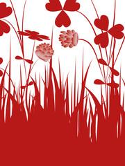 floral,klee,kleeblatt,blüte,frühling,hochzeitskarte,hochzeit,
