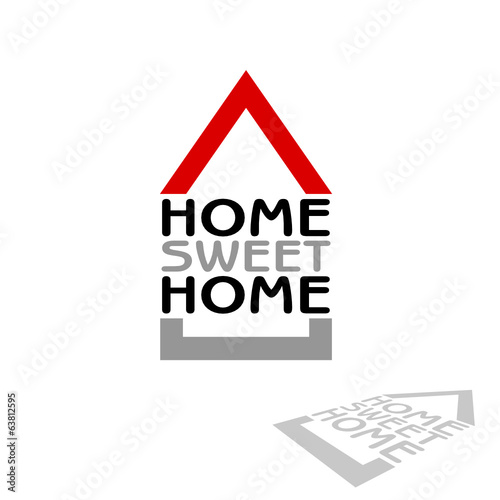 home sweet home icon vector