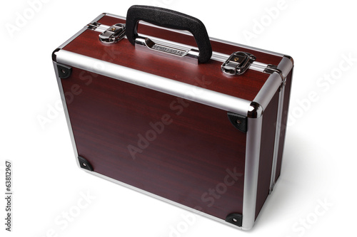 Wooden padded aluminum briefcase