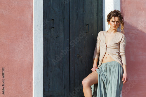Outdoor portrait of Fashion model