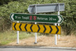 canvas print picture - Roadside sign between Taupo and Rotorua North Island New Zealand