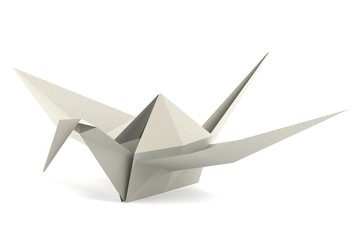 realistic 3d render of origami toy