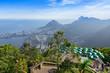 View of jockey club, Lagoa and Leblon in Rio de Janeiro. Brazil