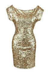 Golden sequin dress