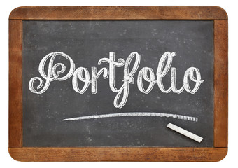 portfolio word on blackboard