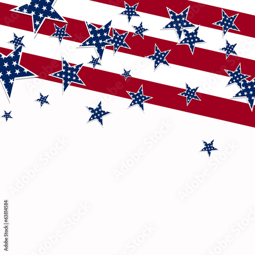Vector Illustration of an Independence Day Design