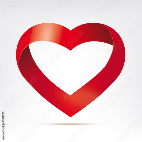 infinite ribbon heart vector design element