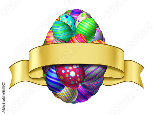 Easter Ribbon Label