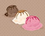 Vector: neapolitan ice cream