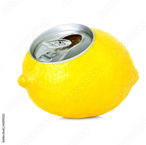 fresh lemon juice in a tin