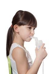 Girl inhaled