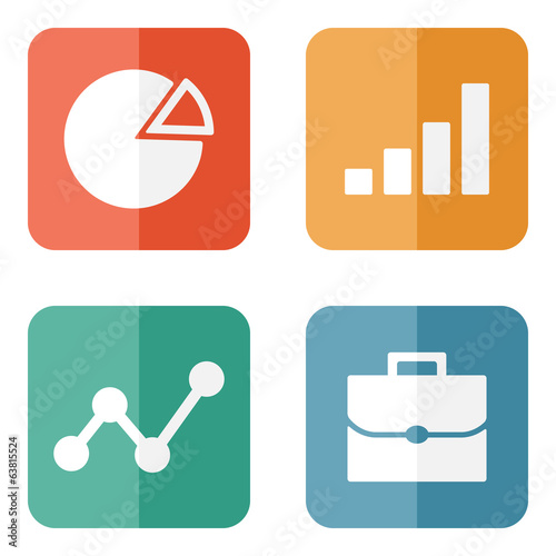 Business Icons. Vector illustration.