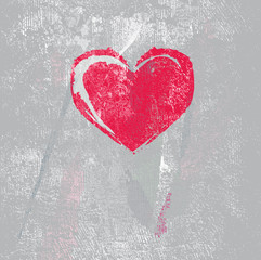 grungy effekt - abstrakt vektor - Hintergrund - Herz