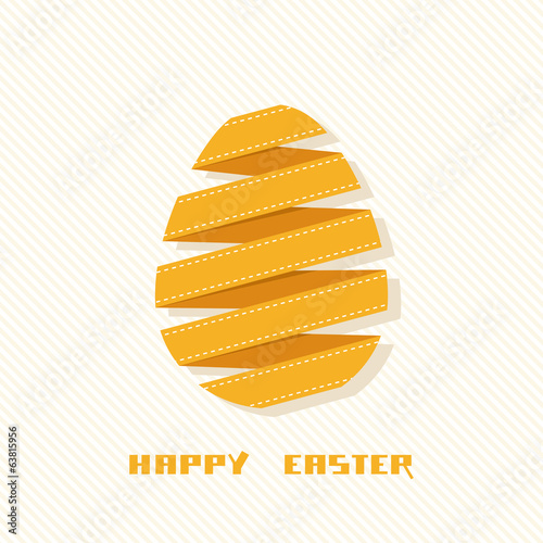 Easter card with banner egg