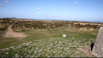 Trig point Black Down Mendip Hills Somerset