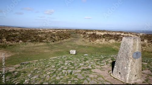 Trig point Black Down Mendip Hills Somerset UK