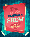 Circus show poster. Vector illustration. - 63816750