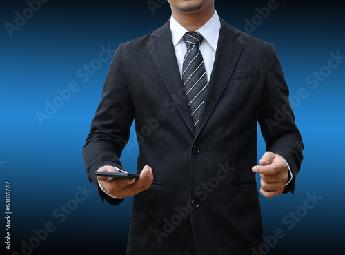 businessman hand using a smartphone