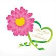 Blume mit Herz zum Muttertag