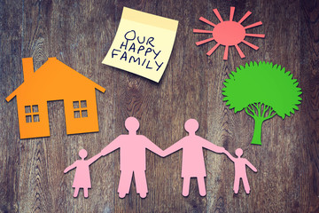 Our happy family. Conceptual image