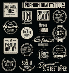 Collection of premium quality labels