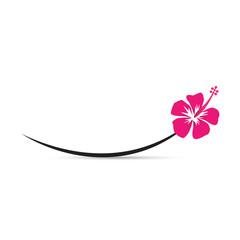 Hibiscus sur courbe