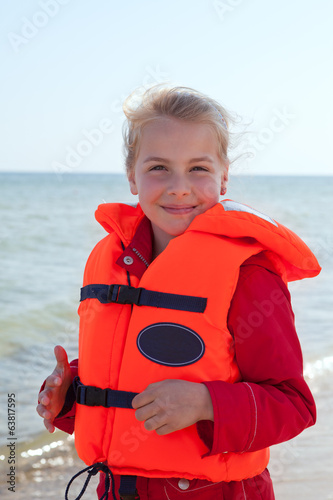 girl with life jacket